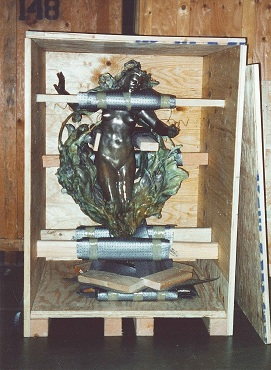 Sculpture in crate