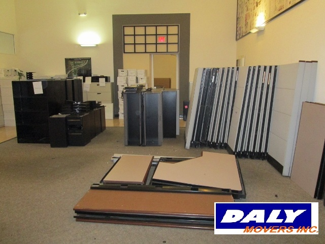 Office space prepared for moving