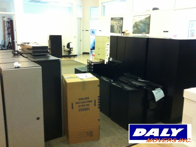 Packed up office ready for a move