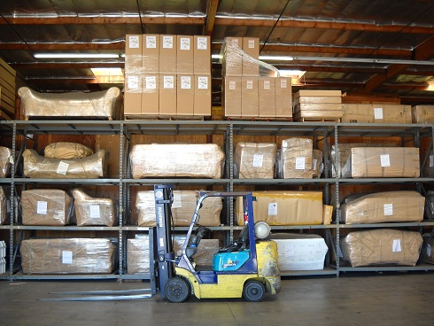 Furniture safely stored in warehouse