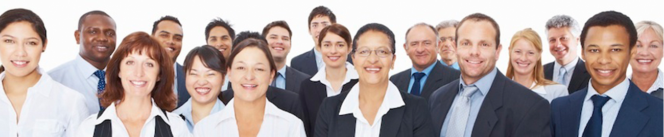 Group of professionals smiling