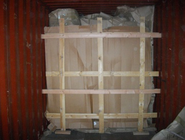 Container loading for shipping overseas
